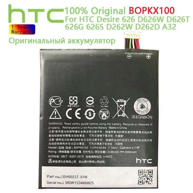 100% Original BOPKX100 de la batería para HTC Desire 626 D626W D626T...
