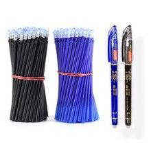 2 + 50Pcs/Set 0,5mm Blau Schwarz Tinte Gel Stift Löschbaren Refill Stange Löschbaren Stift Waschbar Griff schule Schriftlich Schreibwaren Gel Ink Pen