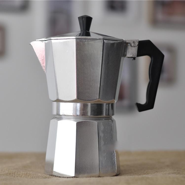 Estilo italiano cafeteira moka espresso pote de café casa octogonal alumínio mocha pot