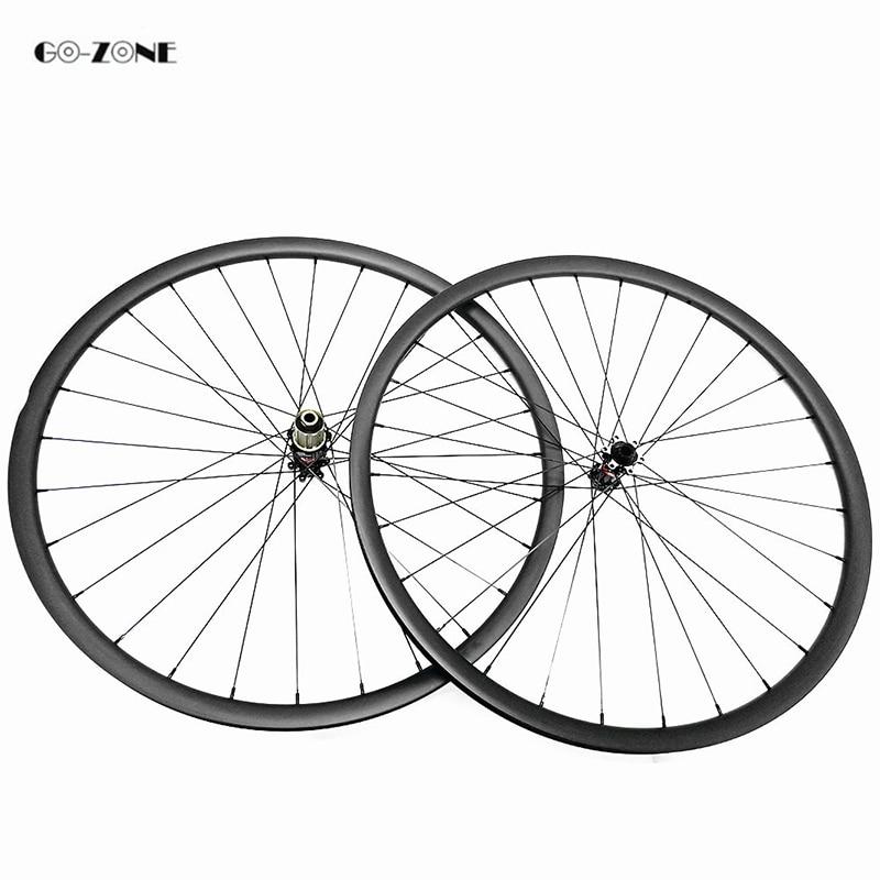 29er mtb bicicleta carbono ruedas xc 30x30 bicicleta sin cámara aro 29 novatec D411SB D412SB 100X15 142X12 disco bicicleta de montaña ruedas