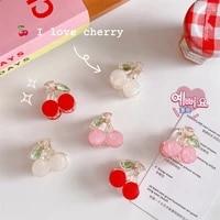 lovely cherry colorful hair claw clip for women girls hairpin hair crab mini bangs clip hair accessories headwear hair ornaments