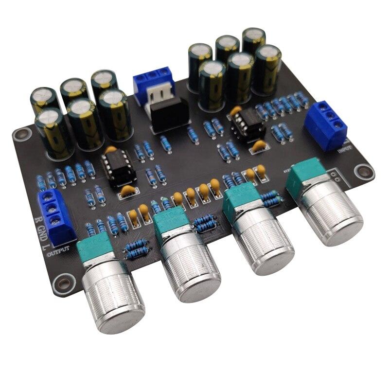 PREAMPLIFICADOR Ne5532, mezclador de preamplificación de tres frecuencias, suministro de Doble potencia, 9V-15V con Subwoofer