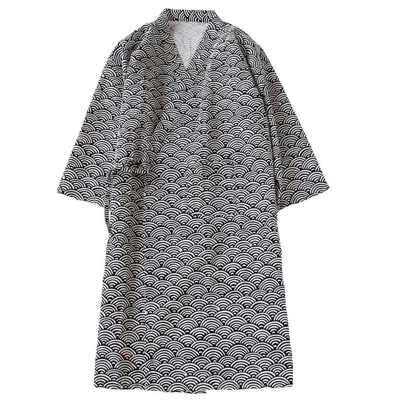 Nightgown Men's Bathrobes Summer Pajama Nightgowns Japanese Sleepwear Kimono One-piece Loose Bathing Sweat Steaming