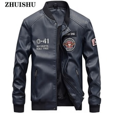 New Mens Jacket Leather Casual Zipper Print Pattern Waterproof Coat Motorcycle Pu Outwear Clothes Ma