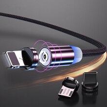 1M câble Micro USB magnétique pour iphone Samsung Huawei Xiaomi téléphone mobile type-c câble aimant chargeur cordon câbles de charge rapide