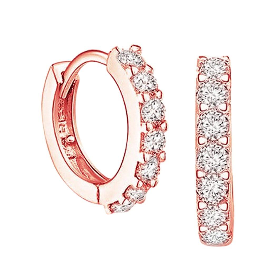 2020 New Luxury Crystal Earrings Birthday Gifts Women and Men Bohemian Letter Cubic Zirconia Earring