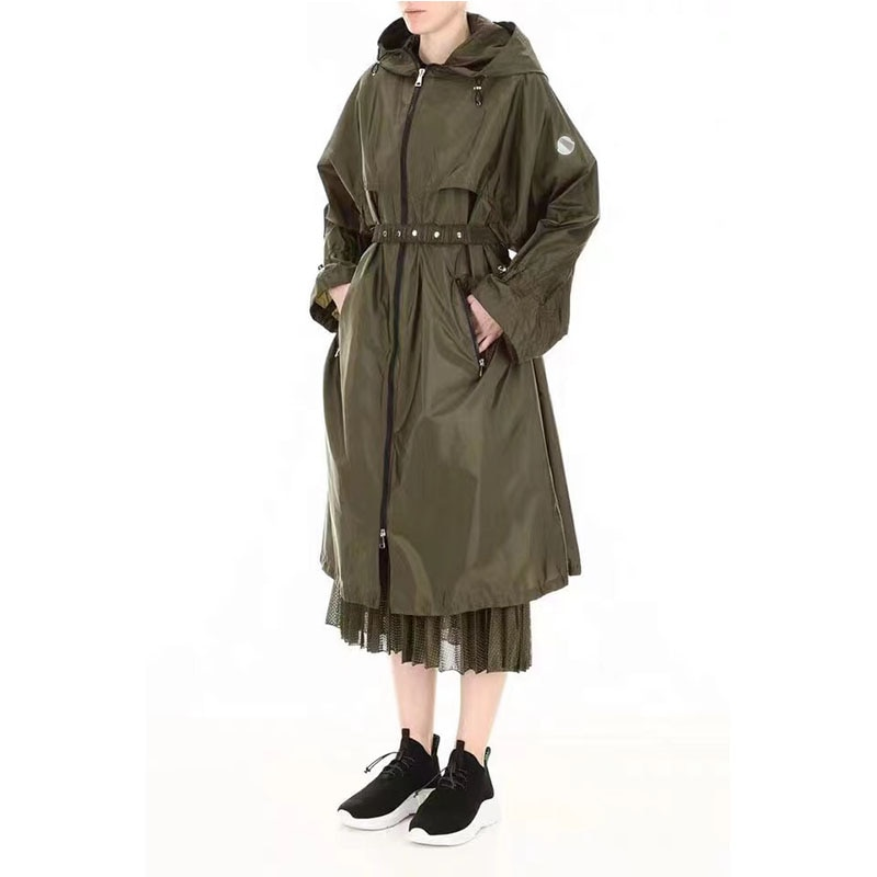 Luxury Design Spring Autumn Casual Street Style Women's Spring Fashion Long Trench Coat Casual Butte