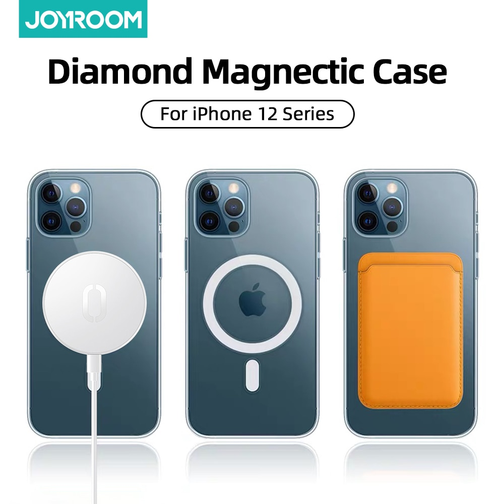 Magnectic Case For iPhone 12 Pro Max 12 mini Case For Magsafe Wireless Charging Shockproof Full Protection PC+TPU Case Joyroom