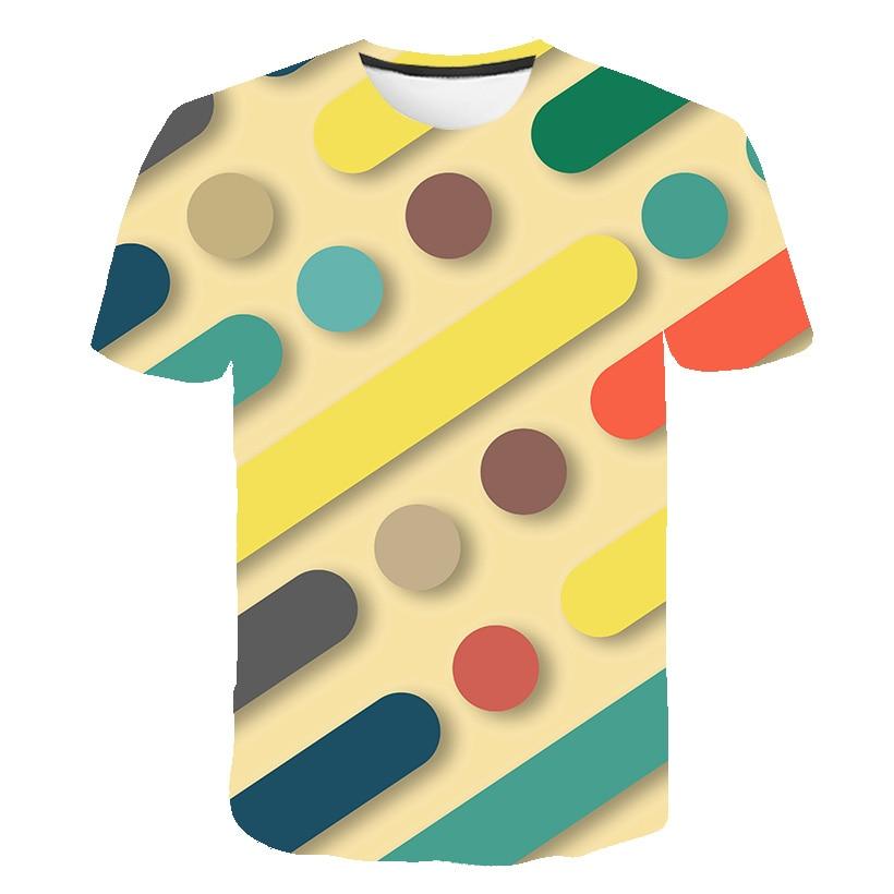 2020 verano tridimensional 3D La camiseta con diseño geométrico hombres mujeres moda 3 D Camiseta de manga corta Harajuku Hip Hop cool camiseta