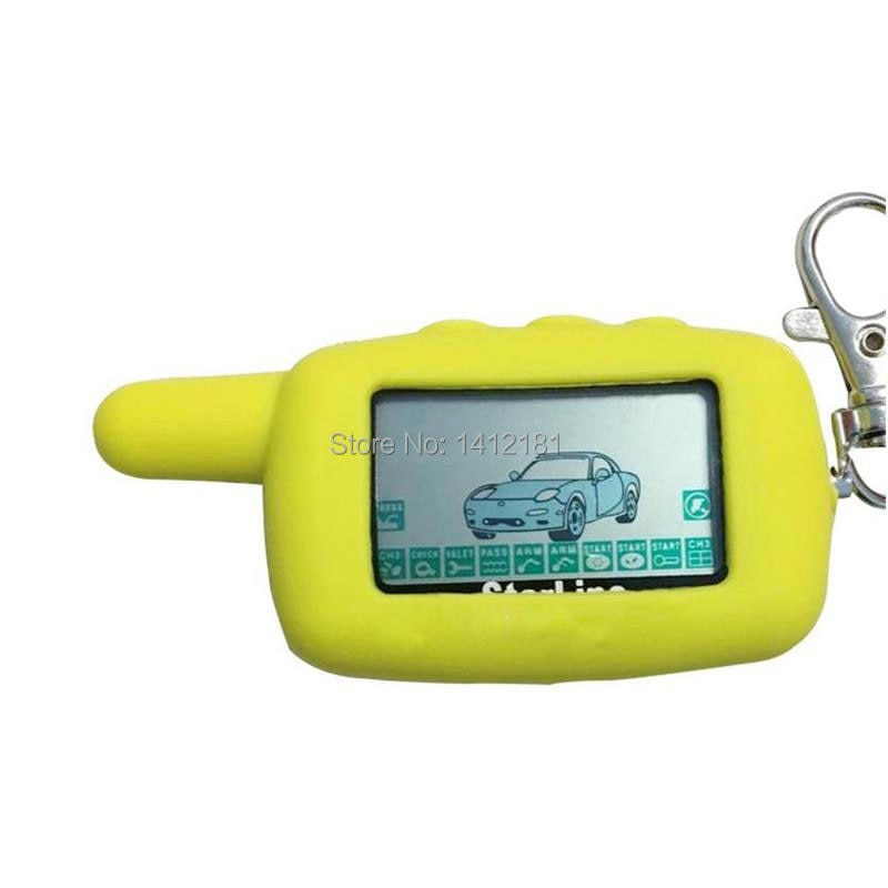 Control remoto A9 LCD + funda de silicona para llave rusa de dos vías, alarma de coche StarLine Twage A9 llavero StarLine A8 A6 KGB FX-5 FX-3