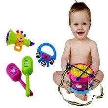 5 шт./компл. музыкальная игрушка набор рулон барабан Музыкальные инструменты Группа Наборы для детей раннего образования игрушка в подарок для маленьких понять колокольчик музыкальная игрушка