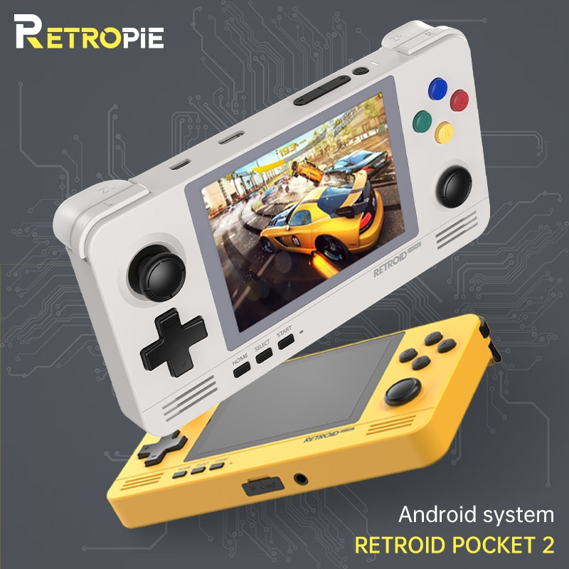 Android e Pandora Sistema de Comutação Retropie Retroid Pocket Retro Game Console 3.5-inch Ips Tela Duplo Jogos 3d 2