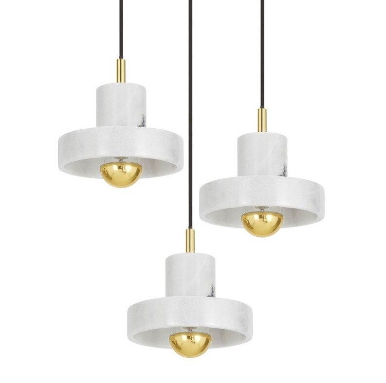 Simple moderno mármol Estilo nórdico creativo Led decorativo colgante de luz