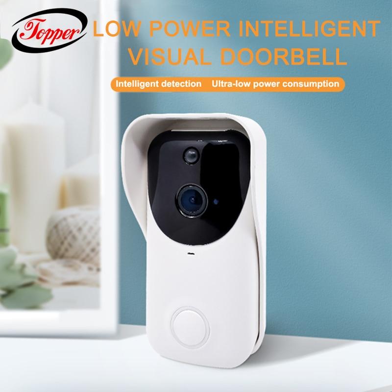 Outdoor Intelligent Wireless Visual Doorbell Smart Home Door Bell Chime Kit US Plug WiFi Security Call Intercom Video DoorBell