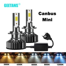 GEETANS H7-phare automobile H4 9005   H1 H3 H8 H11 9006 HB4 9003 HB5 HB3 HB2 9004 9007 6500, ampoules automobiles, Canbus K