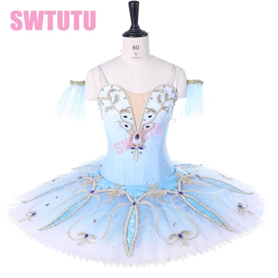 professional ballet stage costume ballet tutu ballerina classical pancake tutu girl women custom made blue ballet tutu BT9262 недорого