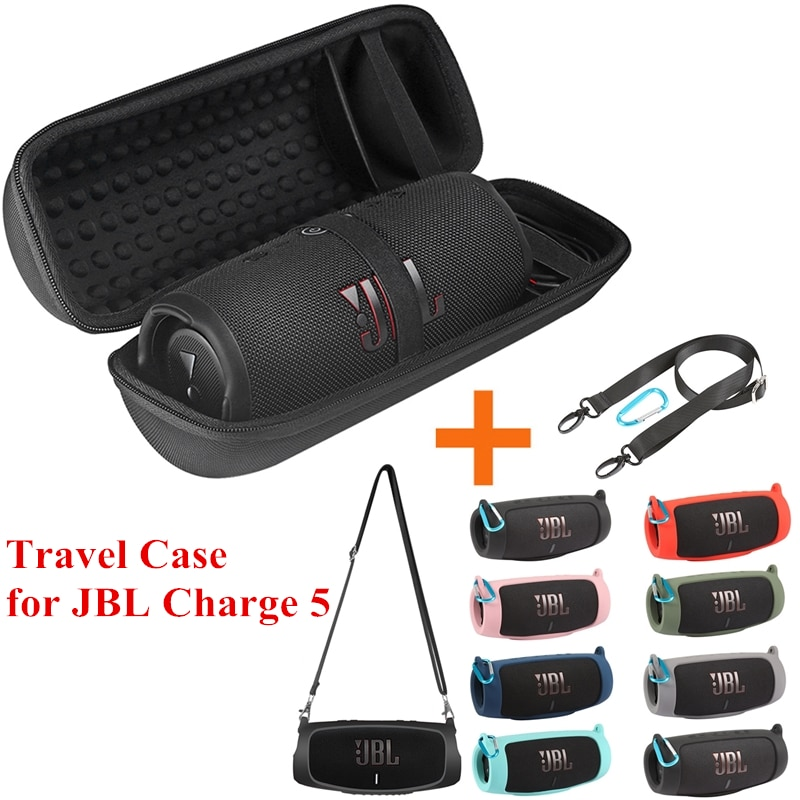 hard eva bluetooth speaker case for jbl charge 4 speakers bag storage cover box portable carry pouch travel accessories Newest Hard EVA Travel Bags Carry Storage Box + Soft Silicone Case For JBL Charge 5 Bluetooth Speaker for JBL Charge5 Case
