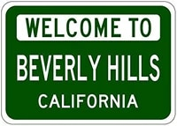 no applicable tin metal signsvintage posters decorationsbeverly hills california usa welcome to12x8 inches