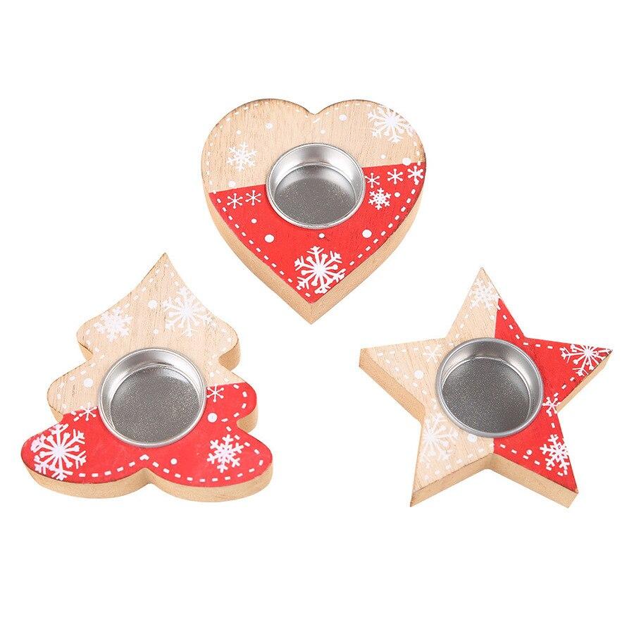 Candelabro navideño nórdico de madera, decoraciones de Navidad, candelabro navideño de estrella...