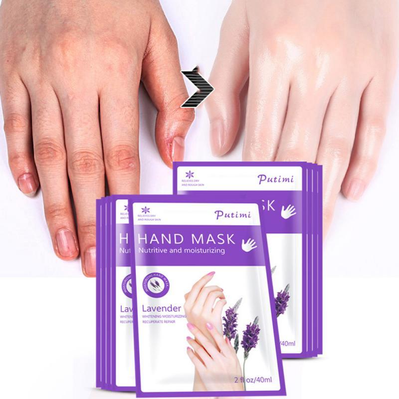 Mascarilla de mano de Aloe vera, guantes de Spa hidratantes para el cuidado de la mano, exfoliante, exfoliante, remueve la piel muerta, 1 par