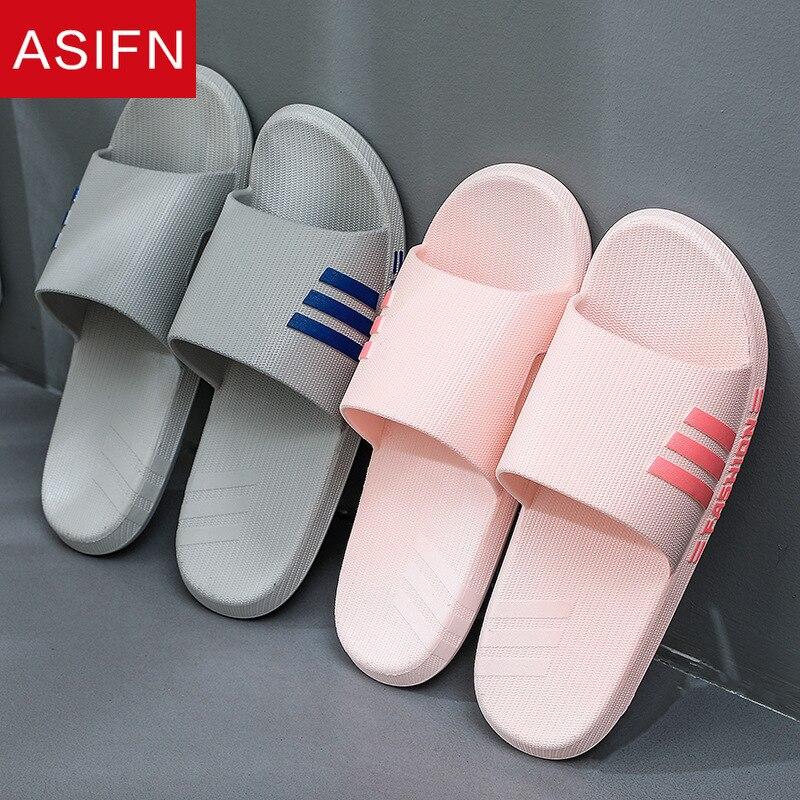 Zapatillas ASIFN para Hombre, zapatilla para baño interior, Zapatos antideslizantes para el hogar para mujer, chanclas De baño para Hombre, Zapatos para el baño para mujer
