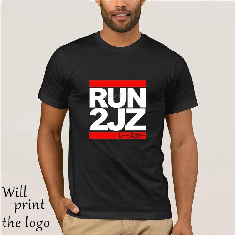 Runer 2JZ-Auto Racinger T camisa bienes Maglie Maniche Corte superior S ~ 3Xl gran tamaño camisa Da Uomo bienes T Del Cotone di Trasporto