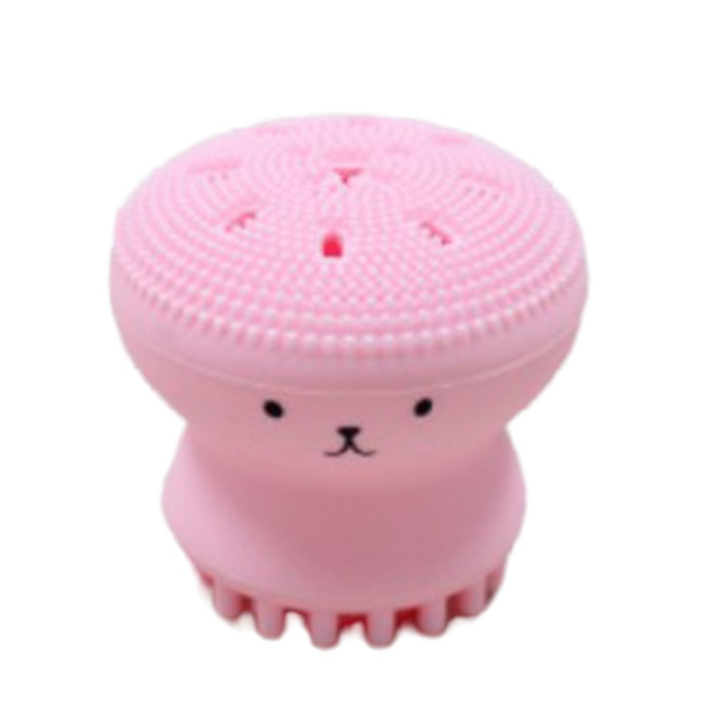 creative silicone small Cute octopus facial cleaning brush Pore Cleaner beauty instrument face washi