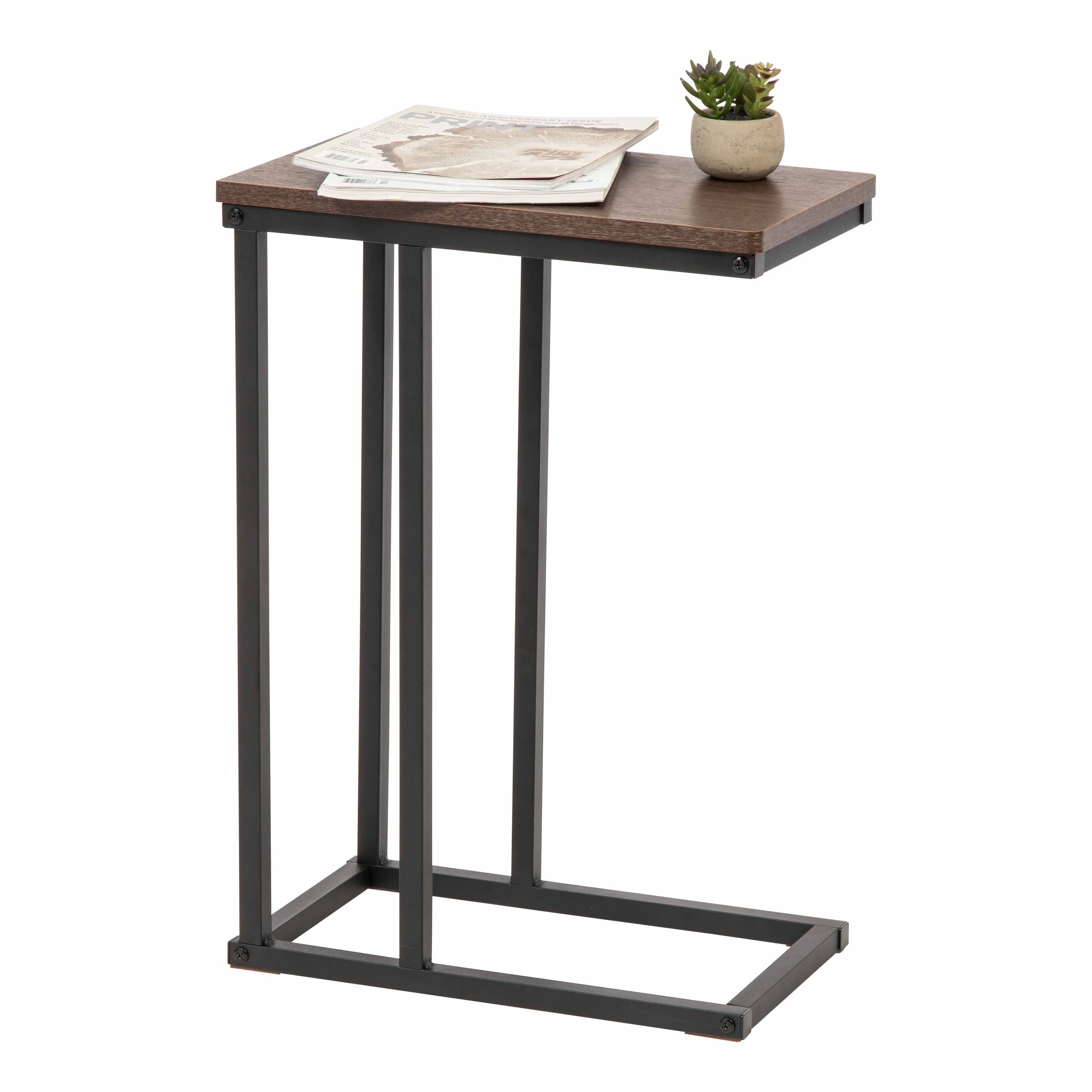 Modern C-shaped Tea Table End Table Home Office Coffee Tables Magazine Shelf Small Sofa Side Table Living Room Furniture