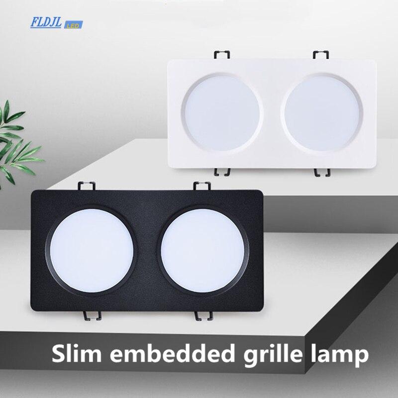 Rejilla LED cuadrada regulable AC85-265V 7W 9W 12W 15W luz empotrada panel LED iluminación interior