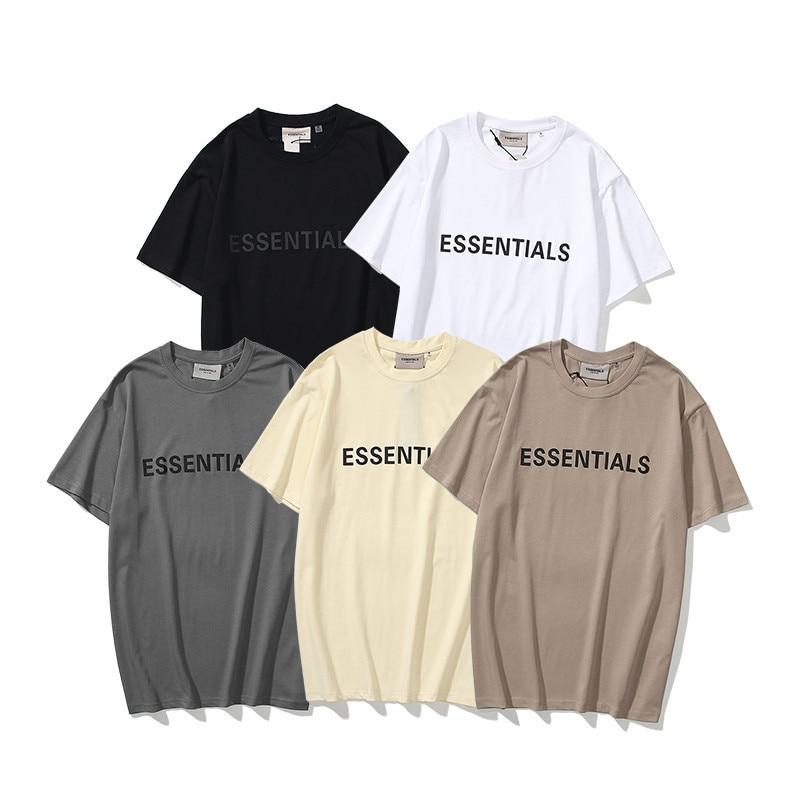 Oversized Essentials T Shirt 100% 1:1Summer Loose T-Shirt Men and Women Hip-Hop Style Cotton Quality