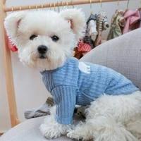 hot sale autumn pet dog home service medium and small dog high collar bottoming shirt casual bottoming shirt clothes