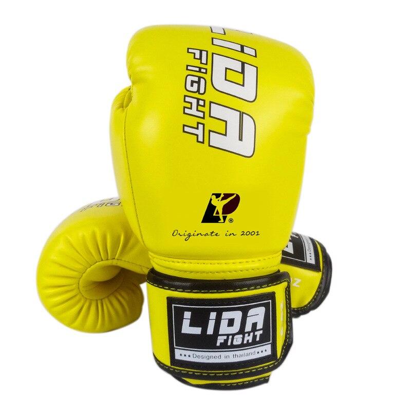 Guantes de boxeo para hombres y mujeres adultos guantes de entrenamiento de competición combate Sanda lucha