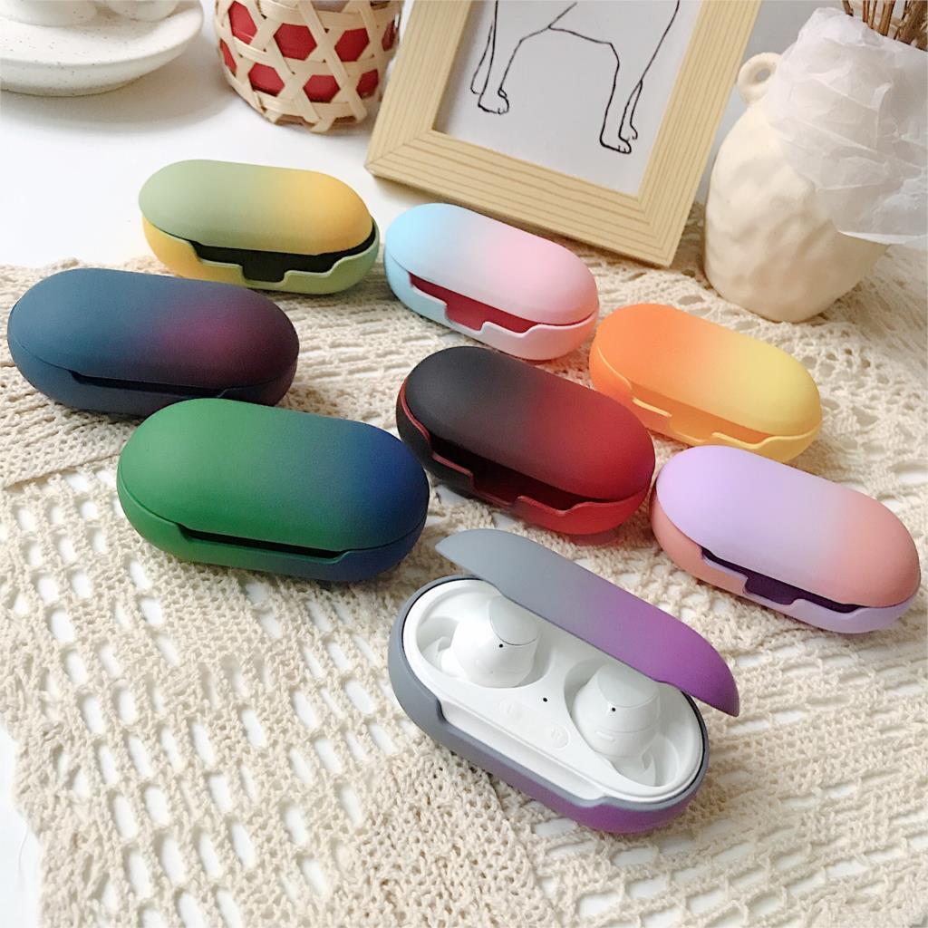 Auriculares Bluetooth Galaxy Buds funda protectora PC mate Anti-caída caja de almacenamiento de auriculares de dos colores para Samsung fundas de auriculares