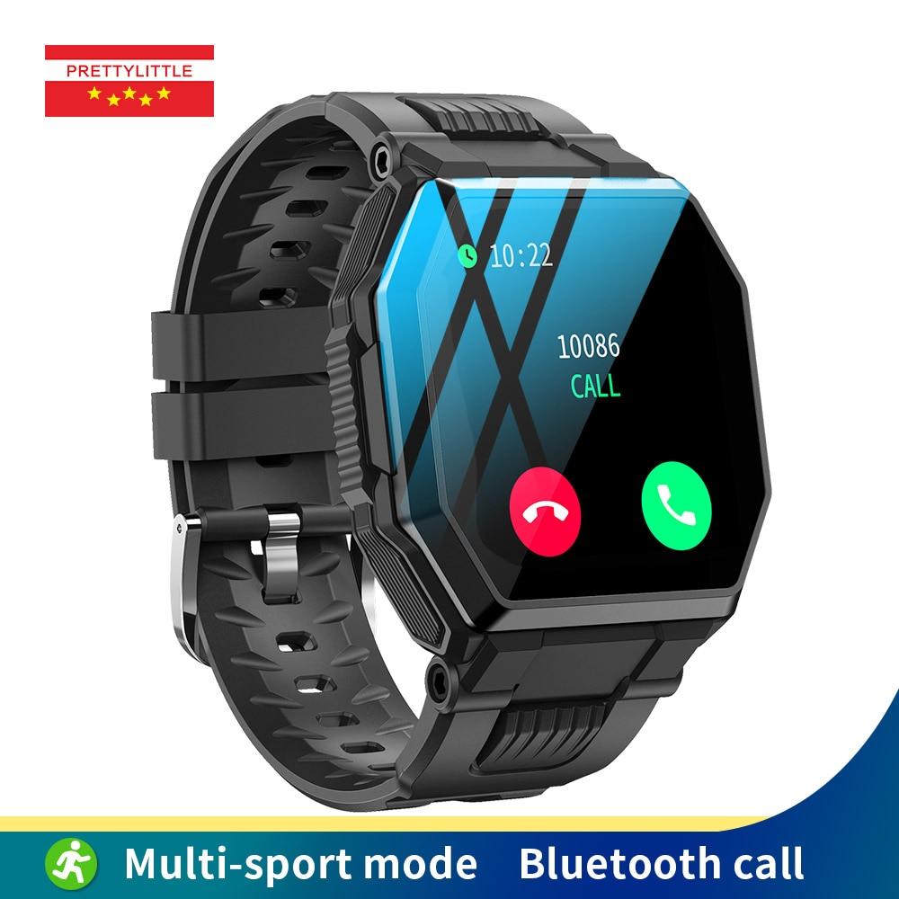S-9 مكالمة بلوتوث ساعة ذكية الرجال كامل اللمس الموسيقى مقاوم للماء ضغط الدم معدل ضربات القلب الرياضة جهاز تعقب للياقة البدنية Smartwatch