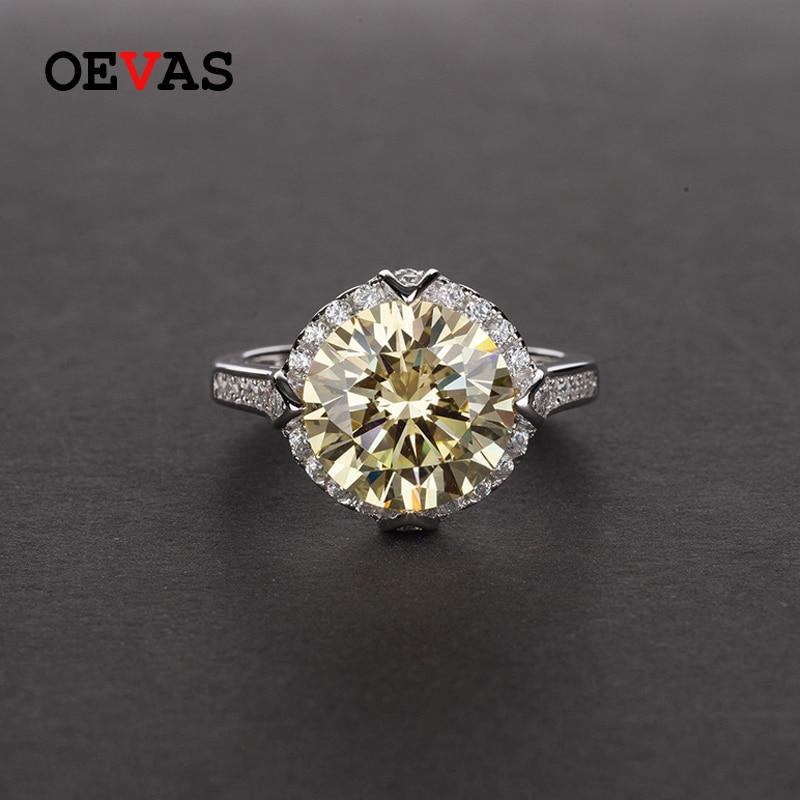 OEVAS-الفضة الإسترليني عيار 925 مرصع بالألماس الزركونيوم الملون ، مجوهرات راقية متألقة ، زفاف ، خطوبة ، زفاف ، 10*10 مللي متر ، بيع بالجملة