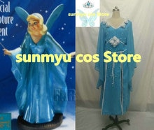 Personnaliser, livraison gratuite! Costume de Cosplay robe de fée bleu Pinocchio, taille personnalisée Halloween en gros