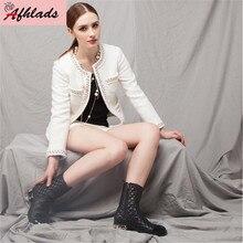 Concepteur petit parfum vent haute qualité élégant Tweed perles veste perlée mince à manches longues automne et hiver veste courte