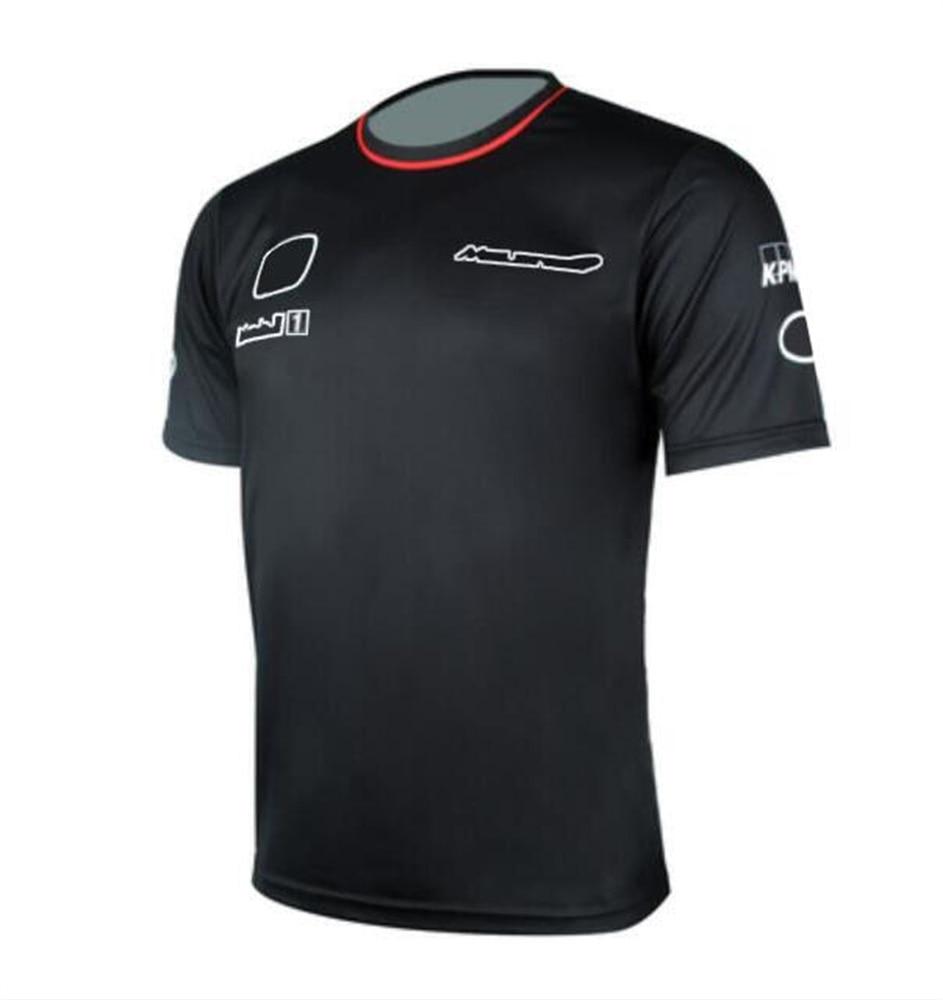Футболка F1 формула один команда футболка с коротким рукавом гоночный костюм рубашка с круглым вырезом командная форма одежда на заказ