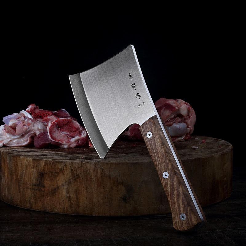 سكين المطبخ ذات شفرة حادة من الفولاذ المقاوم للصدأ, سكين الشيف ، سكين المطبخ ، شفرة حادة ، العظام ، اللحوم مزورة ، سكين الجزار