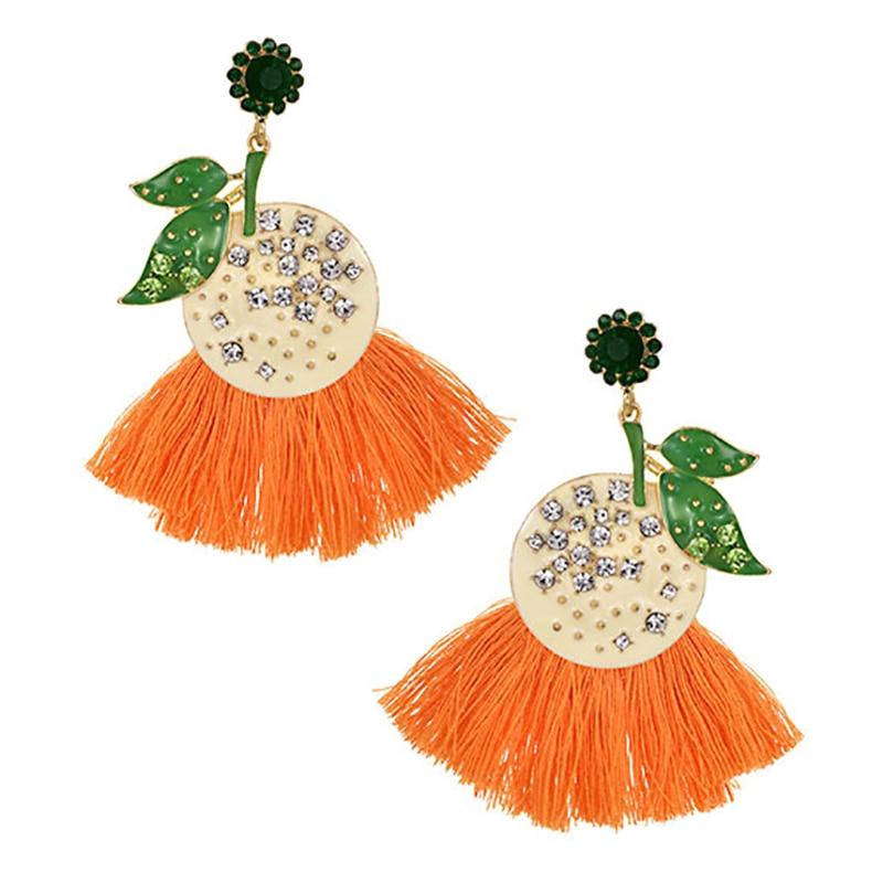 ZHINI 2020 New Fashion Tassel Long Earrings for Women Elegance Charm Geometric Round Metal Pendant Drop Earrings Jewerly Gift