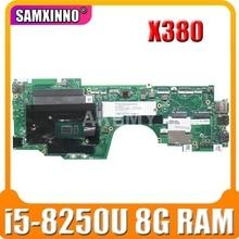 Pour For Lenovo Thinkpad Yoga X380 carte mère dordinateur portable 02DA004 avec i5-8250U CPU 8G RAM DDR3 DTZS1 LA-F421P X380 Yoga carte mère