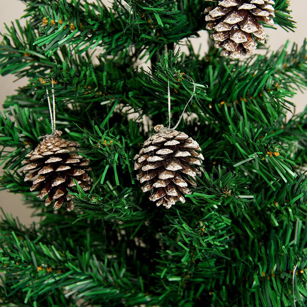 6pcs/Lot 5cm Christmas Creative Decoration Pine Cone Pendant  Innovative Natural Dyed White Small Pine Cone Ornaments Navidad high quality pine pollen natural masson pine wild genuine no sugar no added additives pine pollen