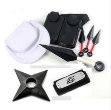 Anime Naruto Cosplay accessoires Collections en plastique Kunai Shuriken Ninja armes sacs ensemble pour jouets dhalloween