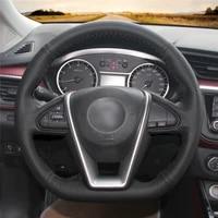 diy anti slip wear resistant steering wheel cover for nissan lannia 2015 2018 maxima 2016 2018 car interior decoration