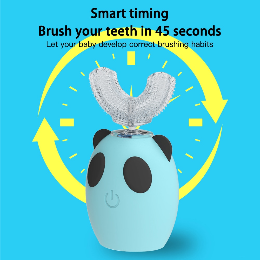 Smart 360 Degress U Sonic Electric Toothbrush Kid Silicone Automatic Ultrasonic Tooth Brush Children IPX7 Waterproof Teeth Brush enlarge