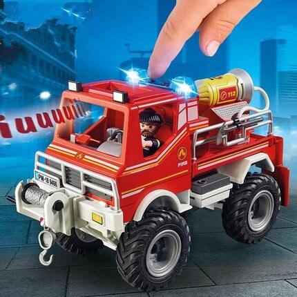 9466 de alta qualidade do caminhão de bombeiros polly bolso bloco de construção