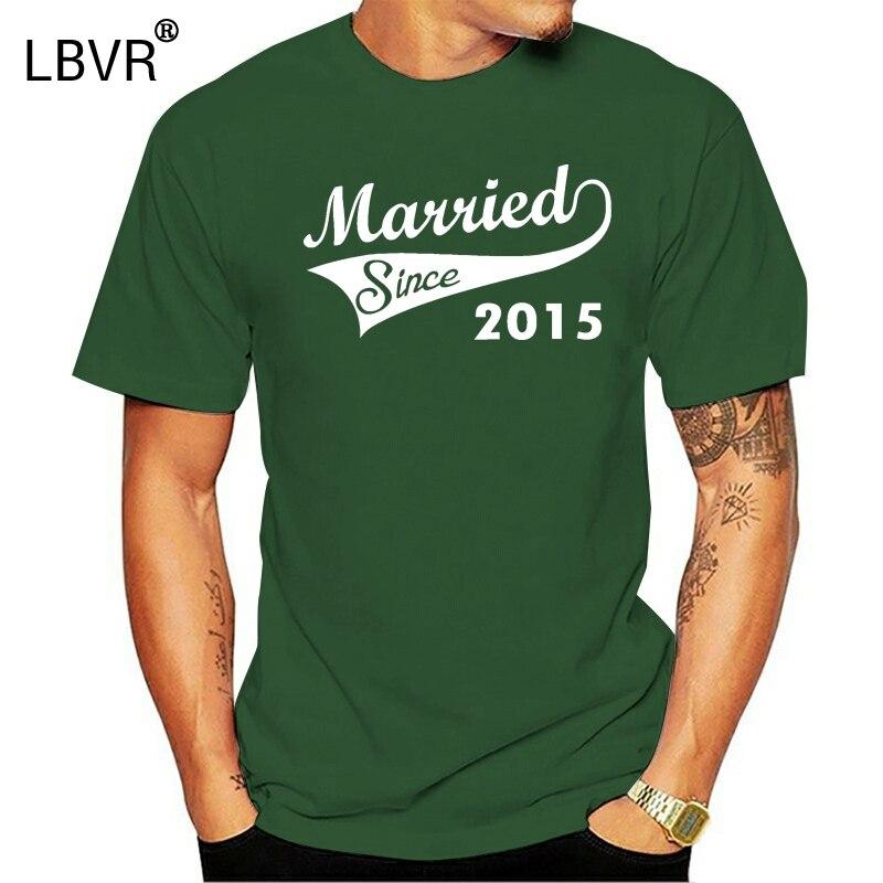 Casado desde 2020-Camiseta matrimonial divertida para hombre, novio aniversario de boda