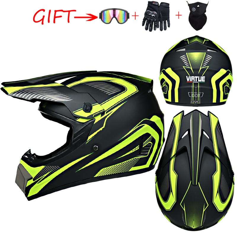 Hombre mujer Motocross casco de motocicleta ATV Motocross MTB DH casco de carreras Cross Helm capcapetes
