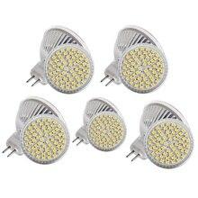 10PCS LED Bulb 5W MR16 60leds 5050  LED spotlight plastic shell light-up Beam Angle Spotlight LED bulb For Downlight Table Lamp