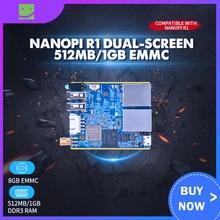 Nanopi R1 double écran 512 mo/1 GB EMMC Internet choses IoT routeur prise en charge Open Source Ubuntu OpenWrt NanoPi R1